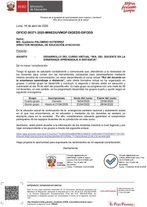 OFICIO 00371-2020-MINEDUVMGP-DIGEDD-DIFODS