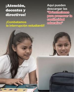 ORIENTACIONES PARA PROMOVER LA CONTINUIDAD EDUCATIVA 2021