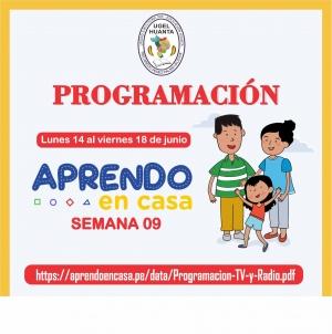 PROGRAMACIÓN DE APRENDO EN CASA DEL 14 AL 18 DE JUNIO 2021