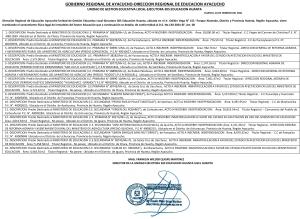 SANEAMIENTO FÍSICO LEGAL DE INMUEBLES DEL SECTOR EDUCACIÓN QUE A CONTINUACIÓN SE DETALLA