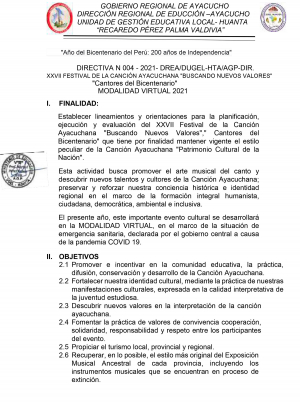 DIRECTIVA N 004 - 2021- DREA/DUGEL-HTA/AGP-DIR