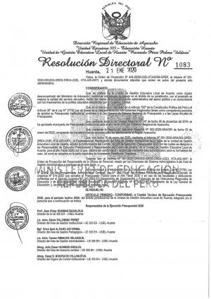 RESOLUCIÓN DIRECTORAL Nº 1083