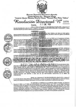 RESOLUCIÓN DIRECTORAL Nº 1078