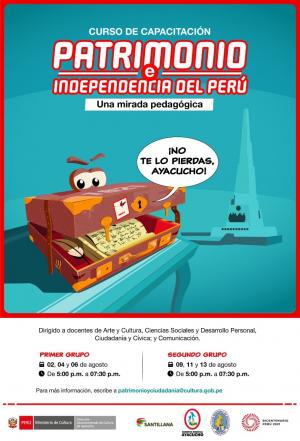 """Curso de capacitación """"Patrimonio e Independencia del Perú """"una mirada pedagógica"""""""