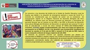 AMPLIACIÓN DE VIGENCIA DE LA CONSTANCIA DE INCORPORACIÓN EN EL RNDBLO