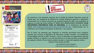 CONSTANCIAS DE DOMINIO DE LENGUA ORIGINARIA QUECHUA Y ASHANINKA