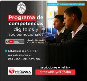 ESTUDIANTE PARTICIPA DEL PROGRAMA COMPETENCIAS DIGITALES Y SOCIOEMOCIONALES