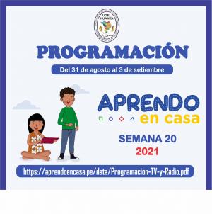 PROGRAMACIÓN DE APRENDO EN CASA