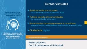 PARTICIPA DEL CURSO: PROGRAMA NACIONAL PARA EL DESARROLLO DE LA COMPETENCIA DIGITAL DOCENTE