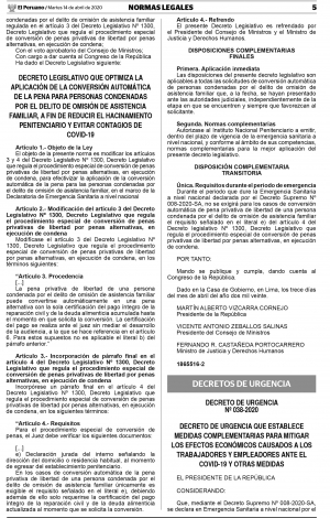 MEDIDAS PARA PRESERVAR EL EMPLEO DE LOS TRABAJADORES