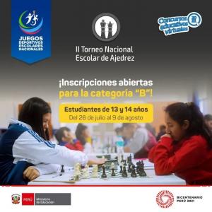 II TORNEO NACIONAL ESCOLAR DE AJEDREZ