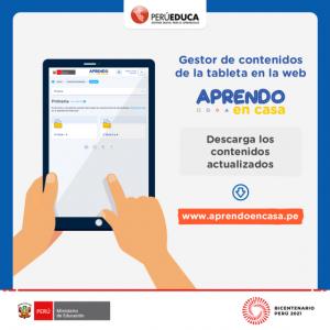 GESTOR DE CONTENIDOS DE LA WEB APRENDO EN CASA