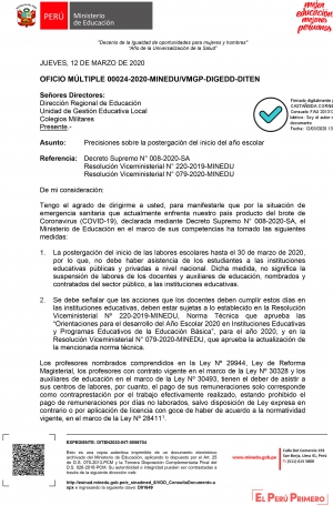 OFICIO MULTIPLE-00024-2020-MINEDU-VMGP-DIGEDD-DITEN