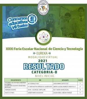 XXXI FERIA NACIONAL DE CIENCIA Y TECNOLOGIA EUREKA VIRTUAL 2021