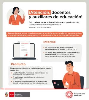 DISPOSICIONES PARA EL TRABAJO DE DOCENTES Y AUXILIARES DE EDUCACIÓN