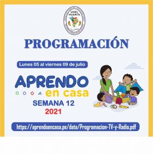 PROGRAMACIÓN DE APRENDO EN CASA DEL 05 AL 09 DE JULIO 2021