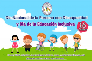 Día Nacional De La Persona Con Discapacidad y el Día De La Educación Inclusiva