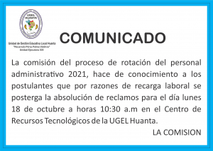PROCESO DE ROTACIÓN DEL PERSONAL ADMINISTRATIVO 2021